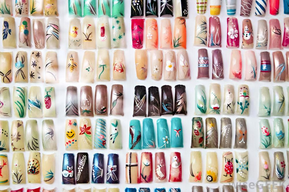 assortment-of-artificial-fingernails